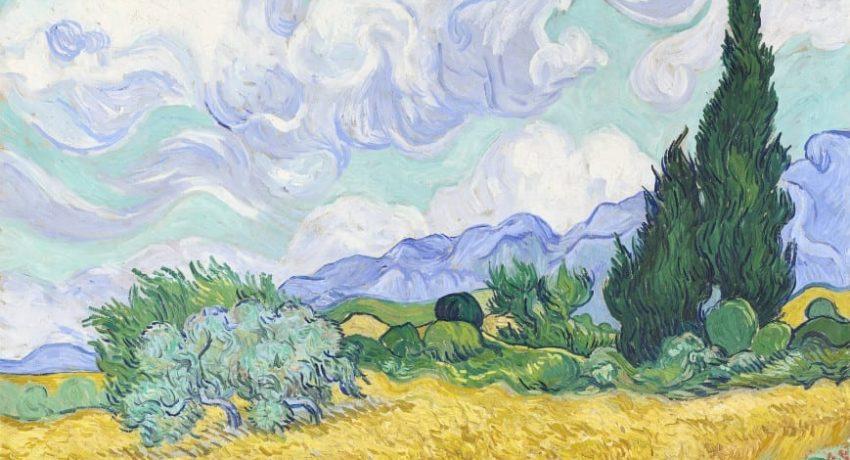 Σταροχώραφο-με-κυπαρίσσια-Σεπτέμβρης-1889-του-Βίνσεντ-βαν-Γκογκ