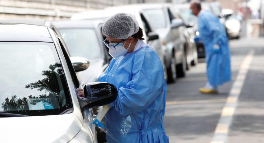 Tests for the coronavirus disease (COVID-19) at Rome's San Giovanni hospital