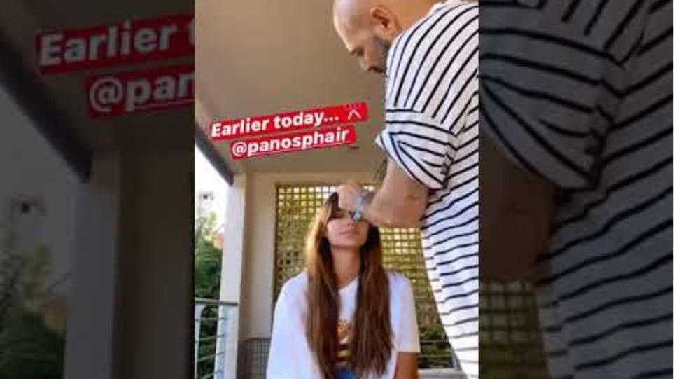 Ηλιάνα Παπαγεωργίου: Κόβει τα μαλλιά της φορώντας το μαγιό του Snik
