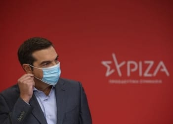 Press Conference held by the leader of SYRIZA political party Alexis Tsipras regarding the new lockdown measures, in Athens, on Nov. 6, 2020 / Συνέντευξη τύπου του προέδρου του ΣΥΡΙΖΑ Αλέξη Τσίπρα σχετικά με τα μέτρα του νέου lockdown, στην Αθήνα, στις 6 Νοεμβρίου, 2020