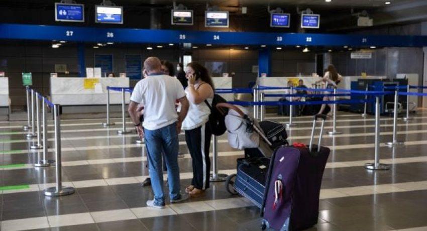 International flights start arriving at all airports in Greece after the lifting of protection measures agaiinst the new coronavirus disease (COVID-19), Macedonia Airport (SKG), Thessaloniki, Greece on July 1, 2020. / Έναρξη άφιξης διεθνών πτήσεων σε όλα τα αεροδρόμια της χώρας μετά την άρση των μέτρων προστασίας από τον νέο κορωναίό, Αεροδρόμιο Μακεδονία (SKG), Θεσσαλονίκη, 1 Ιουλίου 2020.