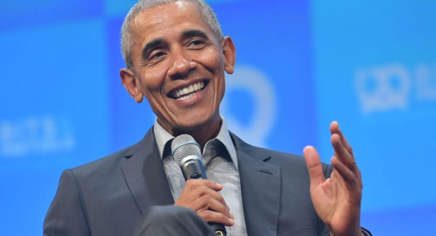MUNICH, GERMANY - SEPTEMBER 29: Former U.S. President Barack Obama speaks at the opening of the Bits & Pretzels meetup on September 29, 2019 in Munich, Germany. The annual event brings together founders and startups from across the globe for three days of networking, talks and inspiration. during the