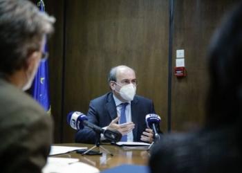 Σύσκεψη υπο τον πρωθυπουργό  Κυριάκο Μητσοτάκη στο Υπουργείο Εργασίας και Κοινωνικών Υποθέσεων, Αθήνα 22 Ιανουαρίου 2021.