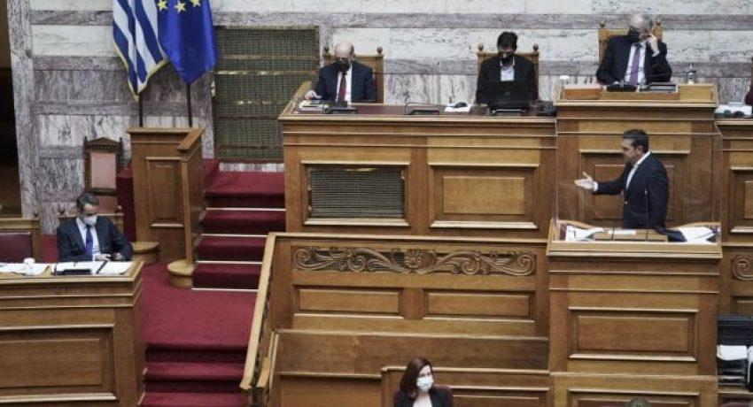 Συζήτηση για το πολυνομοσχέδιο του Υπουργείου Παιδείας, στην Αθήνα, στις 11 Φεβρουαρίου, 2021