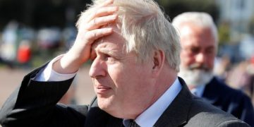 Britain's Prime Minister Boris Johnson visits Llandudno, Wales, Britain, April 26, 2021. REUTERS/Phil Noble/Pool