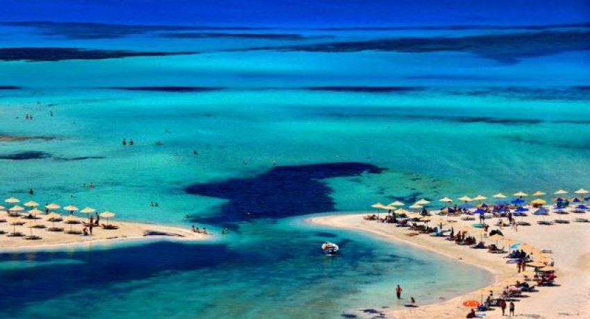 Balos,Beach,,On,The,Northwest,Of,Crete,Island,,Hania,(or