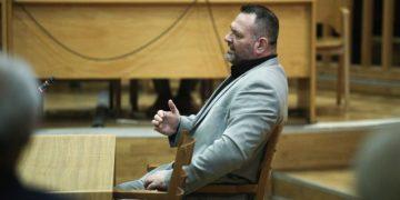 Trial of Golden Dawn: Apology of former MP Giannis Lagos in Athens, Greece on Oct. 30, 2019. / Δίκη της Χρυσής Αυγής: Απολογία του πρώην βουλευτή Γιάννης Λαγού, Αθήνα, 30 Οκτωβρίου, 2019