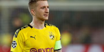 FILE PHOTO: Soccer Football - Champions League - Group F - FC Barcelona v Borussia Dortmund - Camp Nou, Barcelona, Spain - November 27, 2019  Borussia Dortmund's Marco Reus looks dejected after the match          REUTERS/Albert Gea/File Photo