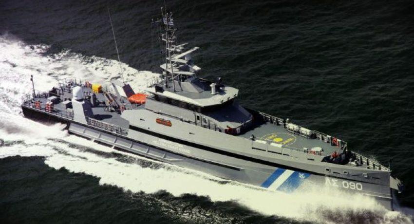 Φωτογραφία που βρίσκεται στον τοίχο του υπουργείου  Εμπορικής Ναυτιλίας και Νησιωτικής Πολιτικής και απεικονίζει το σκάφος του Λιμενικού ανοιχτής θαλάσσης '090- Γαύδος', την Πέμπτη 15 Φεβρουαρίου 2018. ΑΠΕ-ΜΠΕ/ΑΠΕ-ΜΠΕ/ΟΡΕΣΤΗΣ ΠΑΝΑΓΙΩΤΟΥ