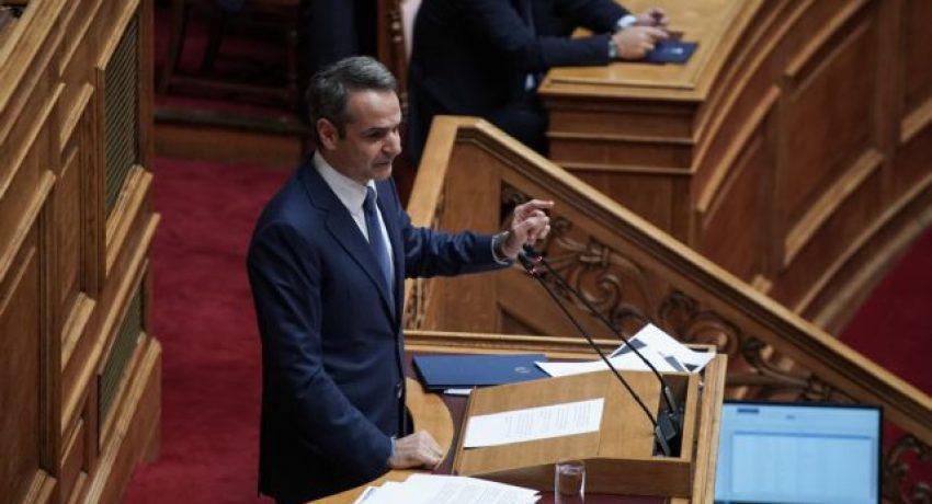 Greek Prime Minister Kyriakos Mitsotakis, answering questions, at the parliament plenum, in Athens, on Nov.22, 2019 / Η ώρα του πρωθυπουργού με απαντήσεις σε ερωτήματα, από τον Κυριάκο Μητσοτάκη, στις 22 Νοεμβρίου, 2019