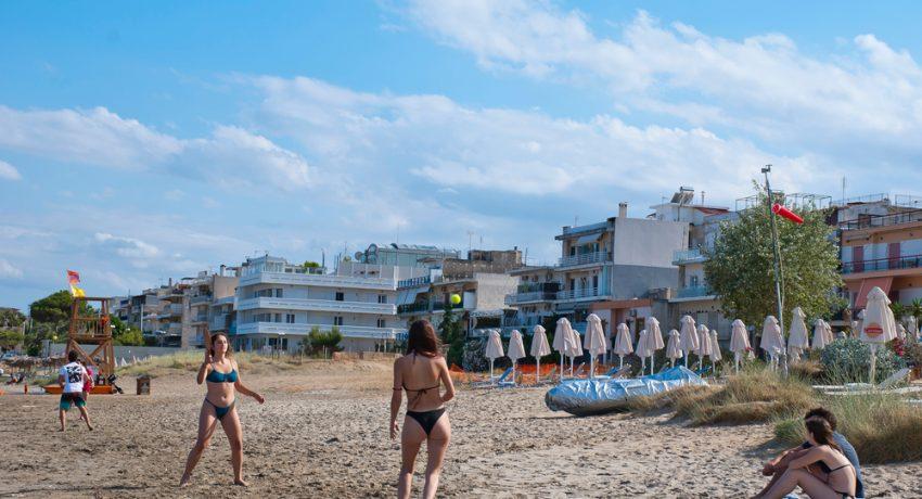 Glyfada,,Greece,-,June,24,,2021:,People,Playing,Rackets,At