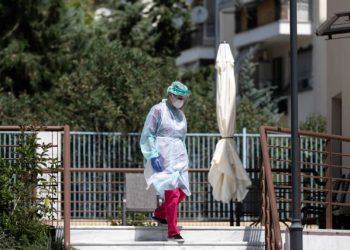 Εντοπισμός 22 κρουσμάτων του νέου κορωναϊού στον οίκο ευγηρίας «Εστία Παπαγεωργίου» της Ιεράς Μητρόπολης Νεαπόλεως και Σταυρουπόλεως, στον Εύοσμο Θεσσαλονίκης, 19 Αυγούστου 2020.