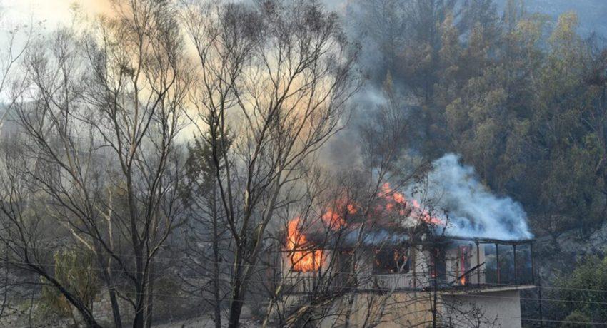 Φωτιά ξέσπασε σε δασική έκταση στην περιοχή Βασιλίτσι του δήμου Πύλου - Νέστορος, στην Μεσσηνία, ενώ εκκενώθηκαν οικισμοί, Τρίτη 03 Αυγούστου 2021. ΑΠΕ-ΜΠΕ/ΑΠΕ-ΜΠΕ/ΝΙΚΗΤΑΣ ΚΩΤΣΙΑΡΗΣ