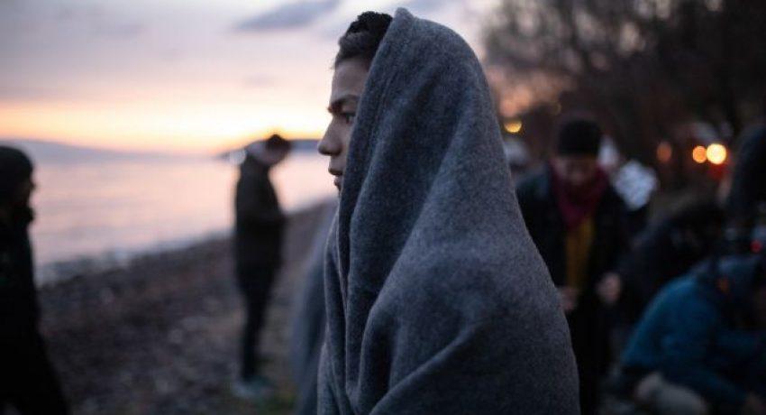 Arrival of 53 asylum seekers from Afghanistan on the shore near the village of Skala Sikamineas at the north of Lesbos island, Greece on March 1, 2020. / Άφιξη 53 αιτώντων άσυλο από το Αφγανιστάν στην περιοχή της Εφταλού στη βόρεια Λέσβο, 1 Μαρτίου 2020.