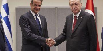 Συνάντηση του πρωθυπουργού Κυριάκου Μητσοτάκη με τον προεδρου της Τουρκίας, Ρετζέπ Ταγίπ Ερντογάν  74η Γενική συνέλευση του ΟΗΕ για το κλίμα, Νεα Υόρκη, 25 Σεπτεμβρίου 2019.