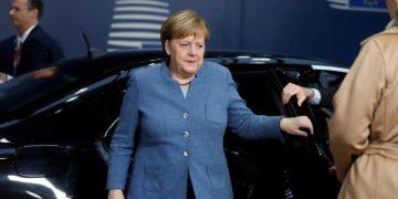 German Chancellor Angela Merkel arrives at a European Union leaders summit in Brussels, Belgium December 14, 2018.  Alastair Grant/Pool via REUTERS